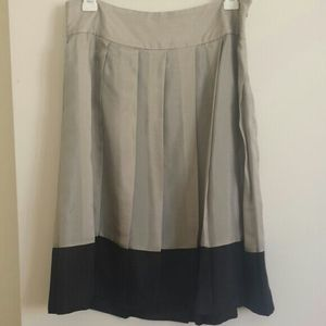 Express Silk color block high waist skirt