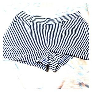 White and navy blue shorts