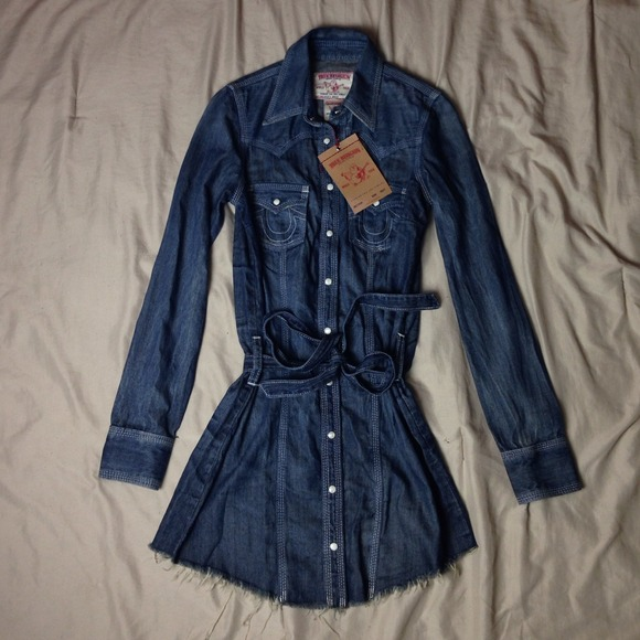 32d08100ad2b True Religion jean rocky dress retail  185