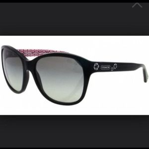 HOLD Coach sunglasses black frames gray lense pink