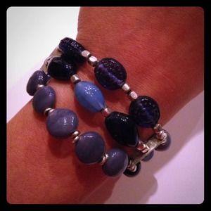 Jewelry - Blue Glass Bead Bracelet