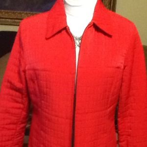 Quilted zip front jacket, M.  NWOT