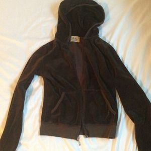 Authentic juicy couture brown velour sweatshirt
