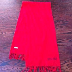 Authentic Moschino red scarf