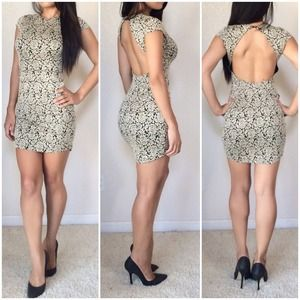 Sexy Backless Dolce Vita Party Dress