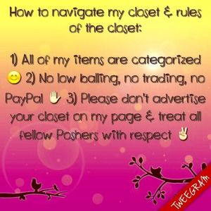 Rules of the Closet and Meet Your Buyer/Seller