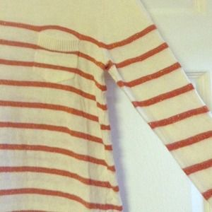 Forever 21 Sweaters - 🎉Host Pick 12/28🎉Orange and cream stripe sweater
