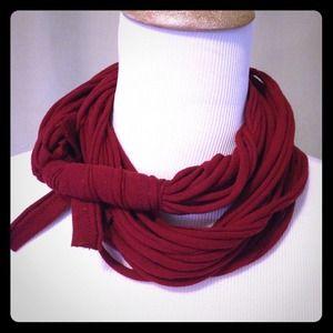 handmade Accessories - Merlot t-shirt infinity scarf ❤️ Handmade