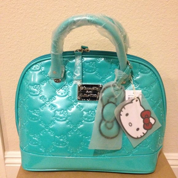27859bd57 Loungefly Bags | Hold Hello Kitty Turquoise Dome Bag | Poshmark