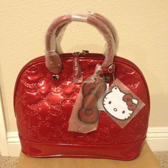 06cebe0af Loungefly Bags | Hello Kitty Red Embossed Dome | Poshmark