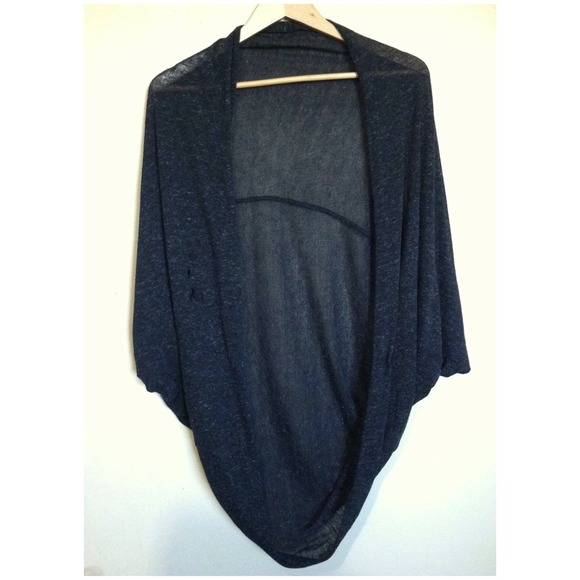 85% off Sweaters - Oversized Batwing Open Front Cardigan -Black ...