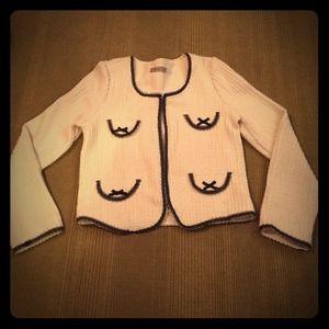 Jackets & Blazers - HP🎉🎊Parisian Boutique Cream & Black Lace Jacket!