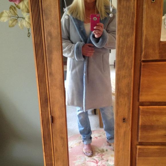 82% off Blue Duck Jackets &amp Blazers - Blue Duck Shearling Coat