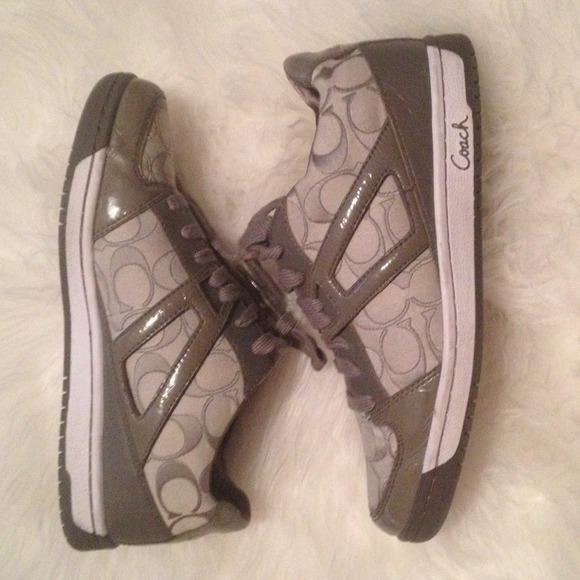 Coach Shoes Sold On Ebay Grey Sneakers Tennis Poshmark