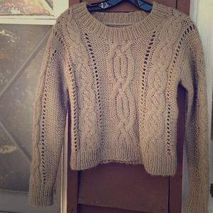 Beige wool sweater size S