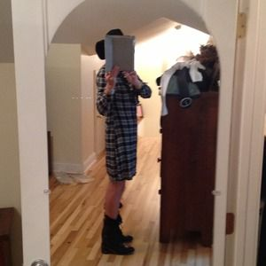 Converse One Star Plaid Hipster Dress SZ M