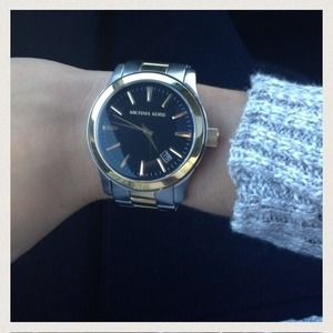Michael Kors two toned oversized runway watch