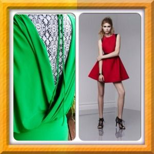 Bundle sale Red Prabal Dress/Green Mini Dress