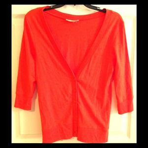 Sweaters - SOLD! Casual Cardigan - Orange