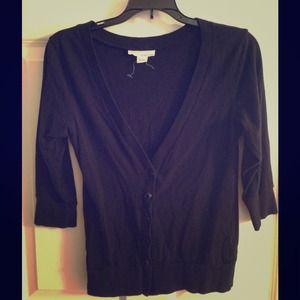 Sweaters - REDUCED PRICE! Casual Cardigan - Black