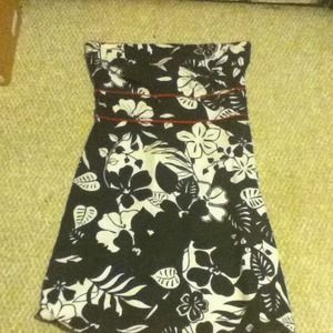 Dresses - Black, white , and red floral dress