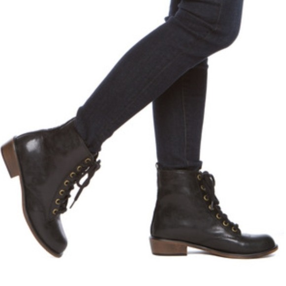 69 boots black combat boot doc marten style from