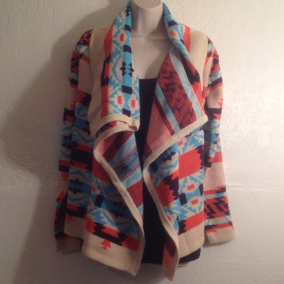39% off Sweaters - NEW🎀Colorful Tribal/Aztec Print Cardigan ...