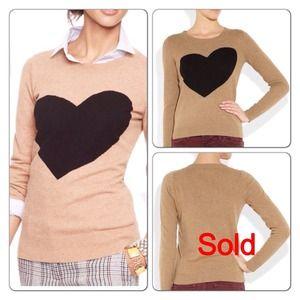 BundledJ.Crew heart sweater