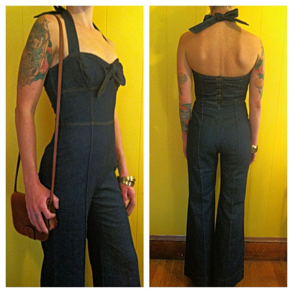 47% off Betsey Johnson Other - RARE! Betsey Johnson Denim Halter ...