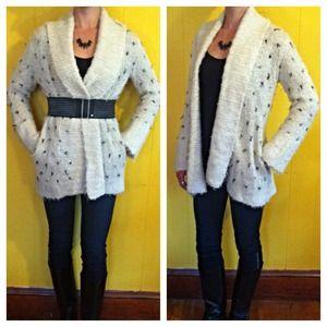 Betsey Johnson Sweater Coat with Pockets, Sz M