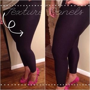 bebe super stretch texture panel leggings