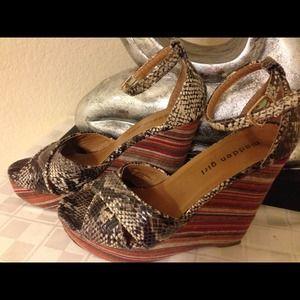 Madden Girl by Steve Madden Shoes - Animal Print Wedge Sandals