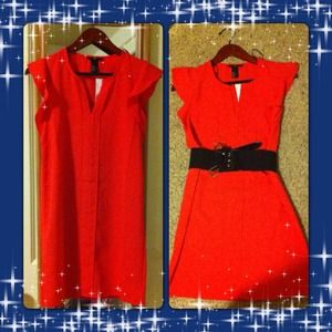 🌟New dress🌟(coral red/ navy blue)