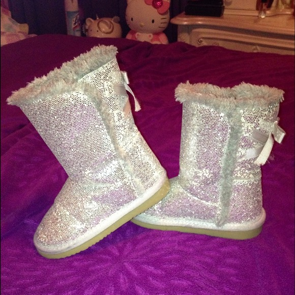 Zodiac Shoes Toddler Girl Boots Silver Glitter Sparkle