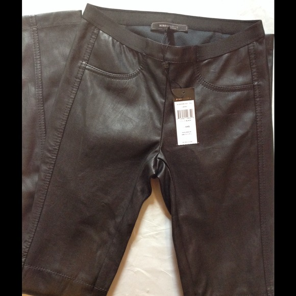 0bc317f1ec279 BCBGMaxAzria Pants | Bcbg Faux Leather Leggings | Poshmark