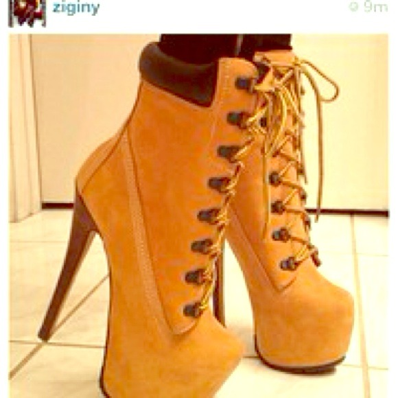 female timberland high heels