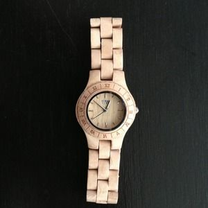 NWOT WEWOOD Watch 100% Natural Birch Wood