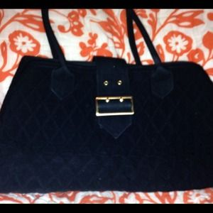 Vera Bradley black quilted satchel