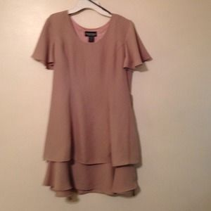 Tan tie dress 10 petite