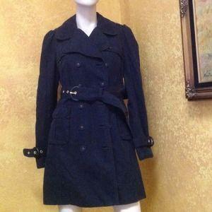 Juicy Couture black pea coat Sz M