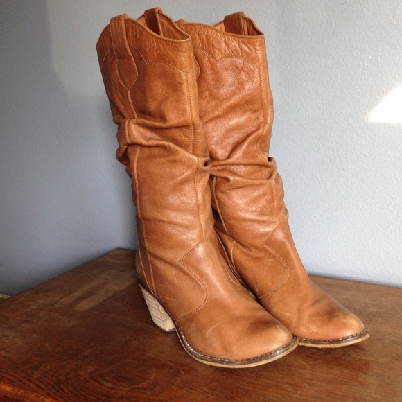 70% off Jessica Simpson Boots - Jessica Simpson slouchy cowboy ...