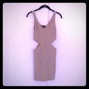 Bebe cut out dress