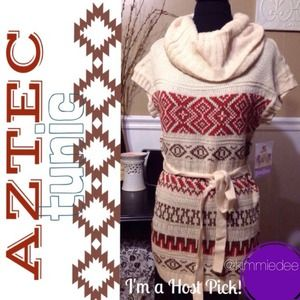 ❌BUNDLED❌2x HP! Aztec tribal sweater tunic