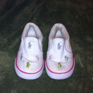 Polo Ralph Lauren Kids shoes size 8 Worn a few x