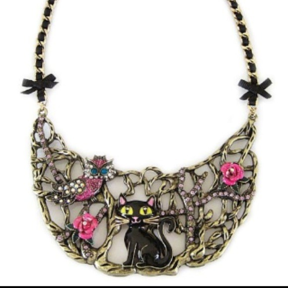 11 Off Betsey Johnson Jewelry Betsey Johnson Enchanted Forest Cat Owl Half Moon From Bernie S