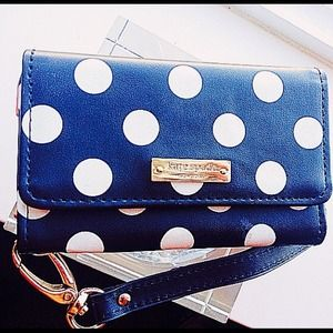 Kate spade polka dot wallet/phone holder