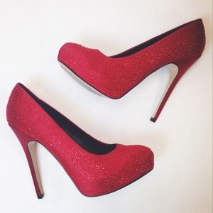 ALDO Shoes - Rockin' Ruby Red Heels 👠