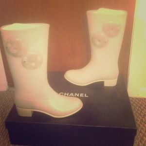 Chanel rain boots! 100% authentic!