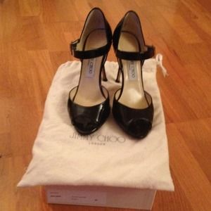 Jimmy Choo Patent Leather Mary Jane Heels