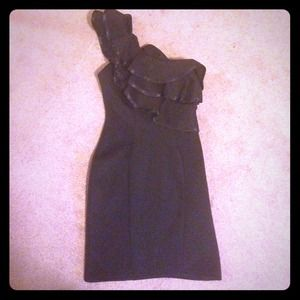 Lipsy London Dresses & Skirts - Lipsy Black One-Shoulder Cocktail Dress Size 4